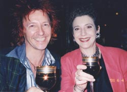 Stan and Claudia enjoy a glass of wine at ??? in New York - photo by Cyn